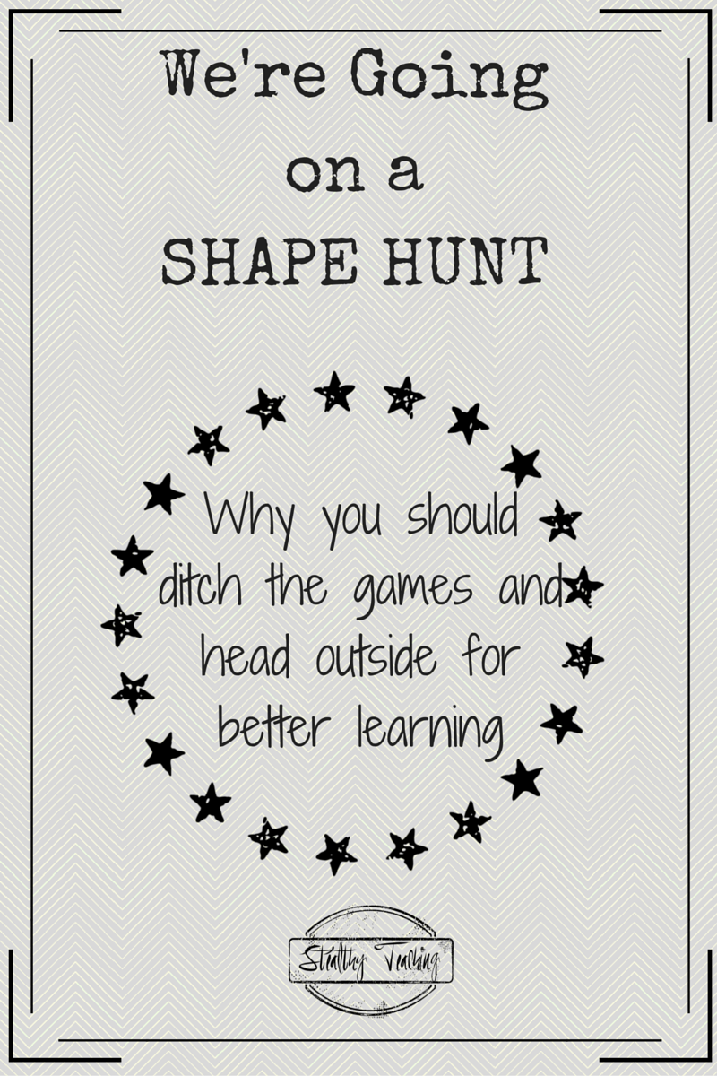Sometimes the best learning takes place organically, without fancy games and materials.  Find out how you can build better learning by going on a Shape Hunt.